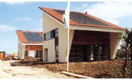 Zonnepanelen op het dak van het Duurzaam Huis Leidsche Rijn.