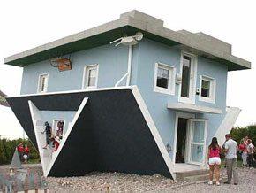 Omgekeerde woningen vaker gezien - Naar beneden meubels huis ter wereld ...