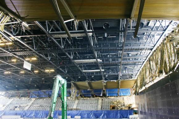 Sportpaleis ahoy breidt uit onder nieuw dak - Mezzanine onder het dak ...