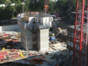 Opbouw van de liftkernen