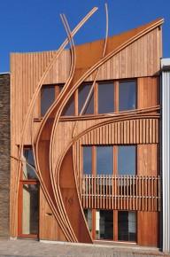 Gevel als visitekaartje - Architectuur staal corten ...