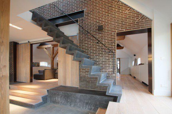 Slanke trap uit staalvezelbeton - Ontwerp betonnen trap ...