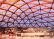 Luchtkussens op geodetische koepel