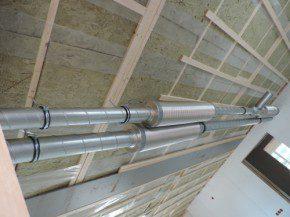 Geluiddempers van het superstille ventilatiesysteem.