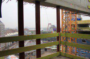 Uitzicht vanaf de tiende verdieping