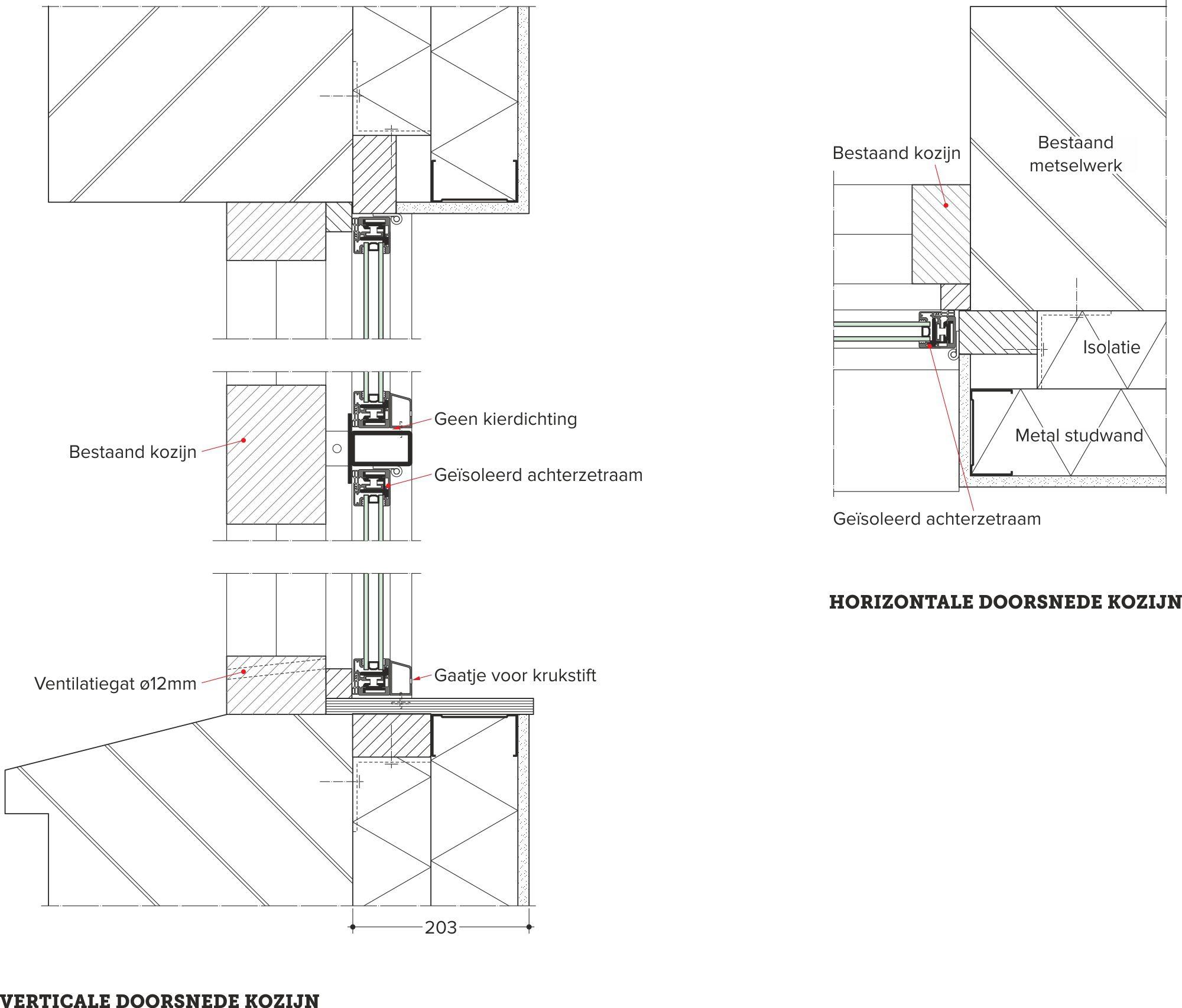 Duurzame renovatie in flevogebouw for Trap doorsnede