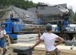 Passiefhuizen met centrale houtsnipperkachel