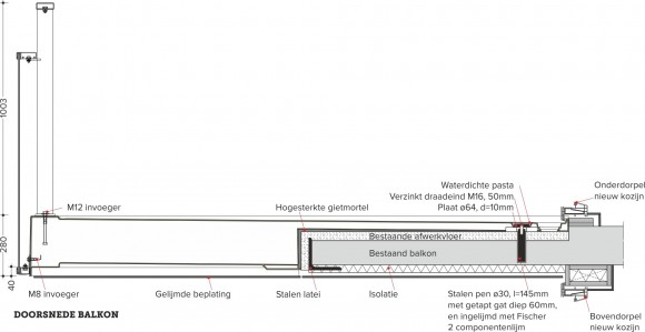 Composiet maakt groter balkon mogelijk u00bb Bouwwereld.nl