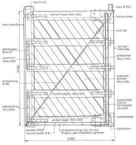 Pen-en-gat-verbindingen in sluisdeuren. Foto: WoodChallenge