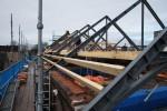 Cinecitta Tilburg Nieuwe stalen spanten in opbouw