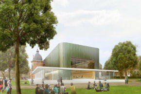 Glazen paviljoen voor Musis Sacrum in Arnhem