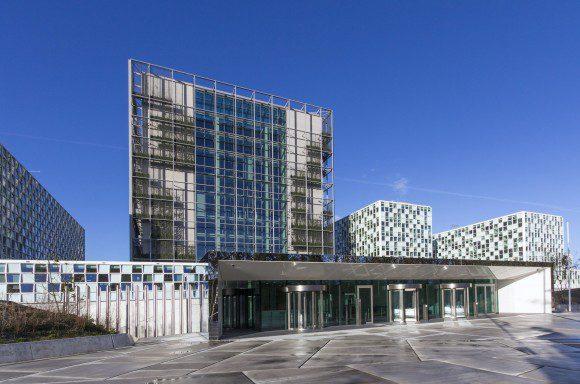 Nieuwbouw van het International Criminal Court (ICC) in Den Haag.