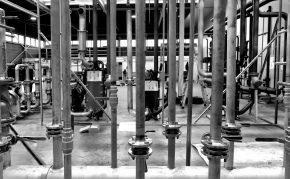 Technische ruimte in aanbouw bij HollandPTC.