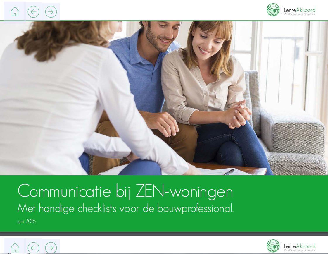 Brochure communicatie bij ZEN woningen