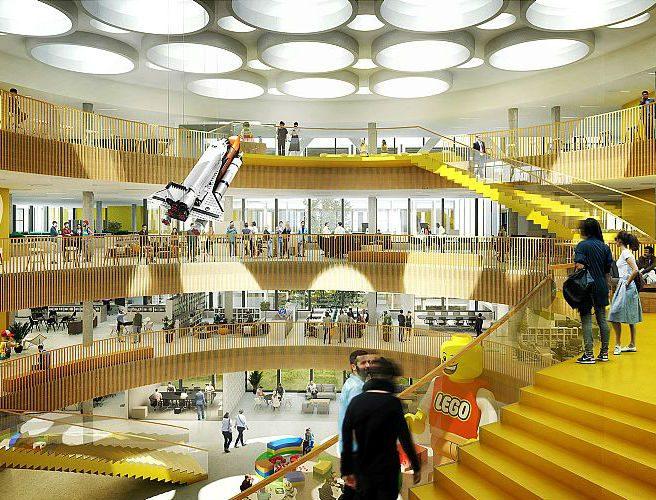 Nieuwbouw Lego-kantoor in Denemarken