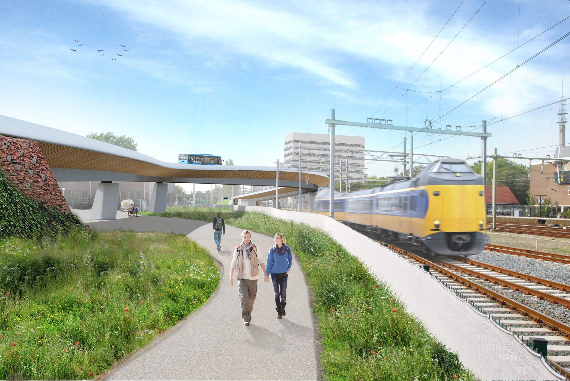 nieuwe busbrug over station zwolle bouwwereld