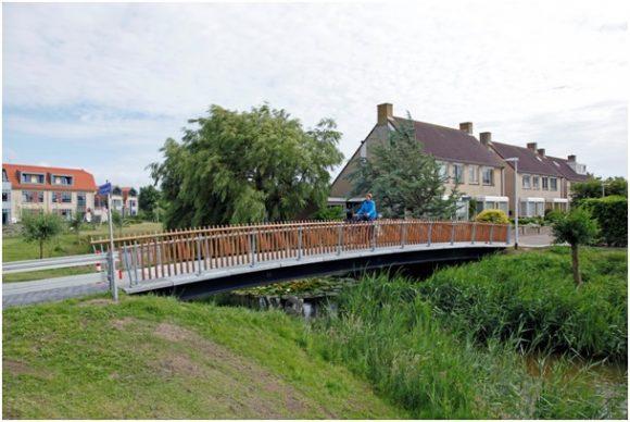 Slanke en getoogde brug