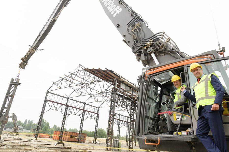 Hergebruik staalconstructie tramremise