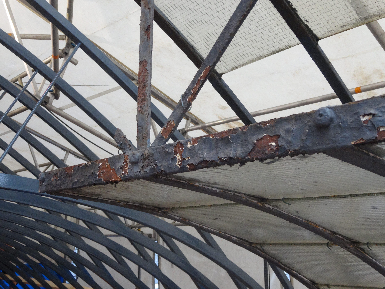 Glasdak, De Passage Den Haag, staalconstructie