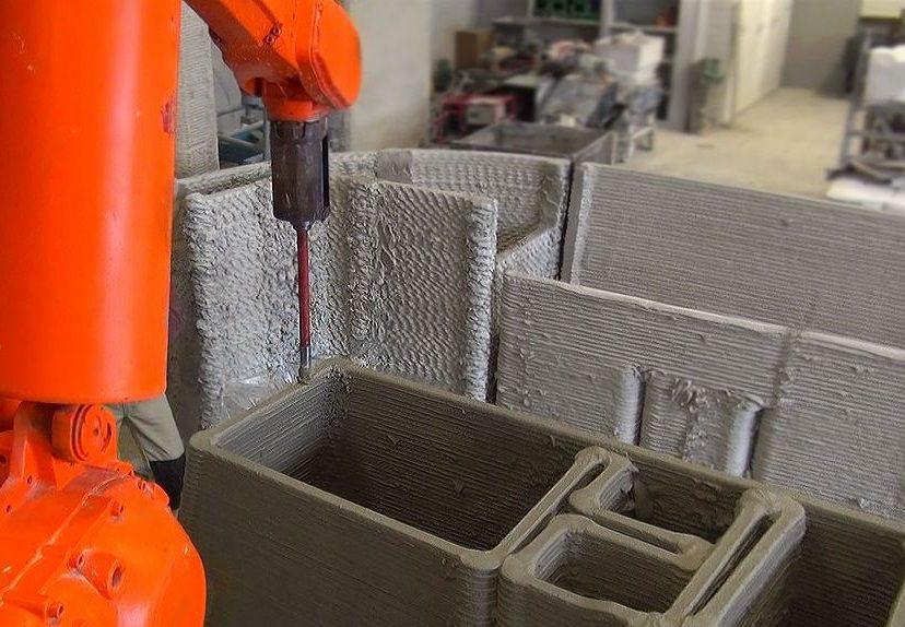 3d-printen beton, praktijk