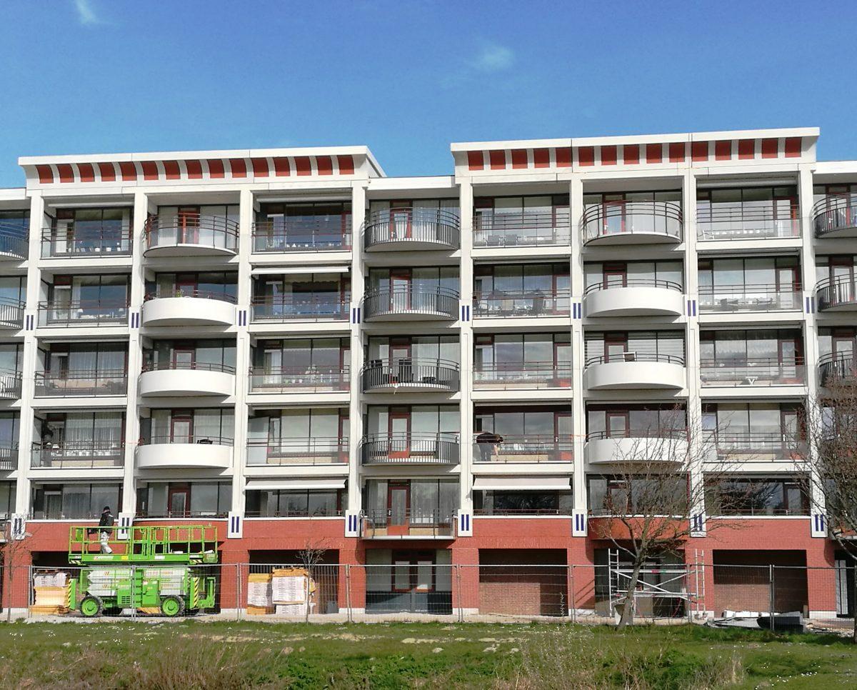 Balkon, renovatie, gevel, crc-beton