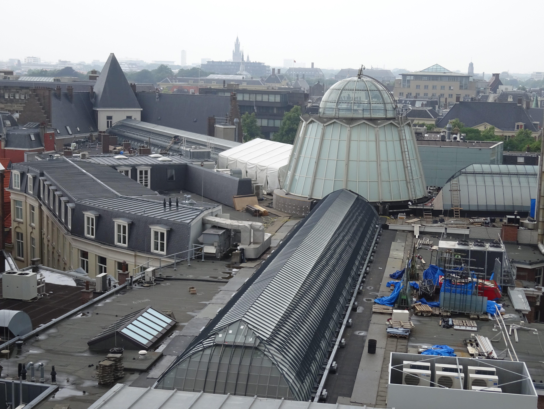 Glaskappen, Haagse passage, staalconstructie