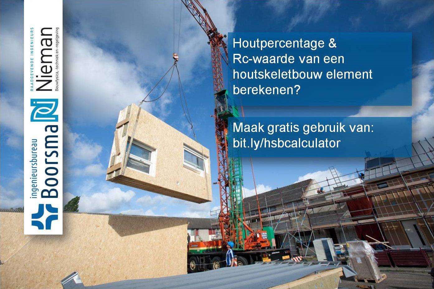 Nieuwe rekentool houtpercentage HSB