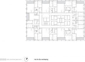 PLattegrond 4e en 8e verdieping