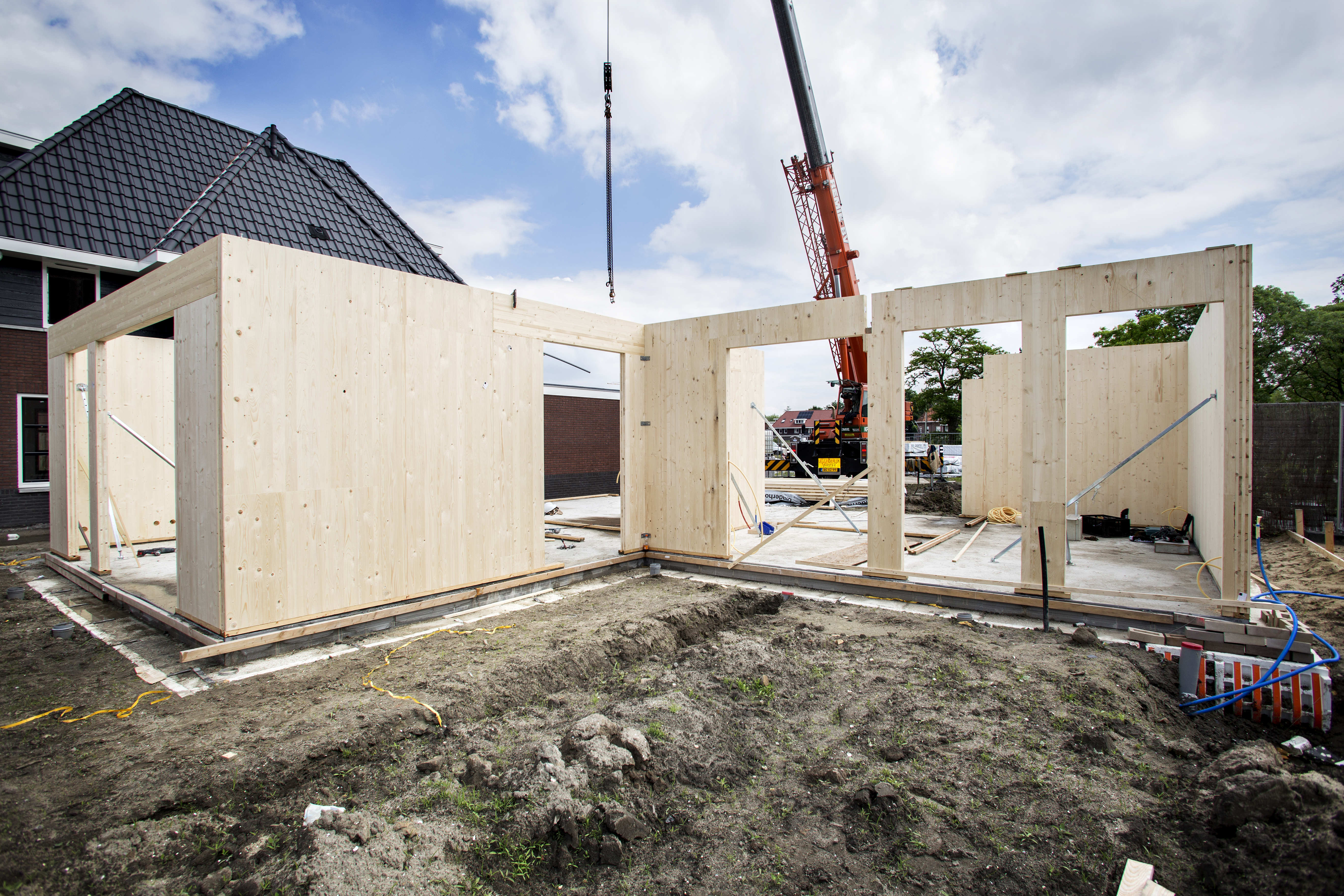houten draagstructuur, isolatie