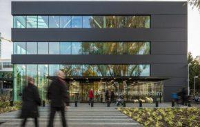 De tijdelijke rechtbank in Amsterdam, een praktijkvoorbeeld van circulair bouwen. (Foto: Jannes Linders)