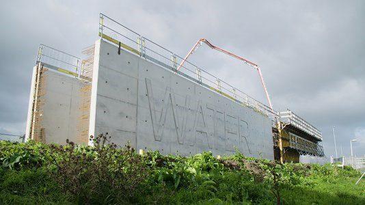Zelfhelend beton, Havenbedrijf Rotterdam, waterbassin