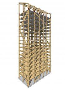 Hoogste houten gebouw ter wereld, 3d-model