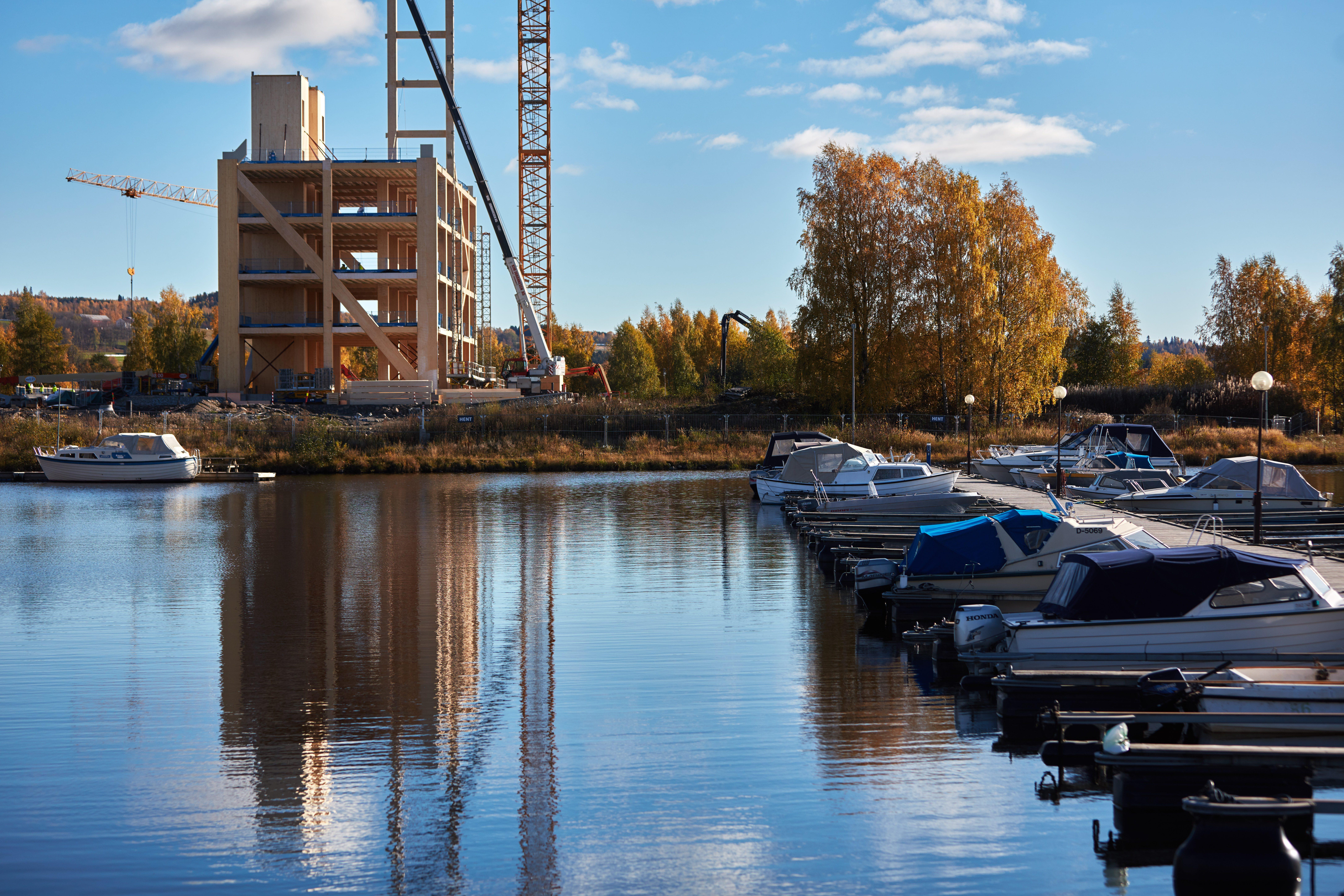 Hoogste houten gebouw ter wereld komt in Noorwegen
