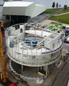De staalconstructie in de gevel is dragend uitgevoerd. (Foto: Buiting Staalbouw)