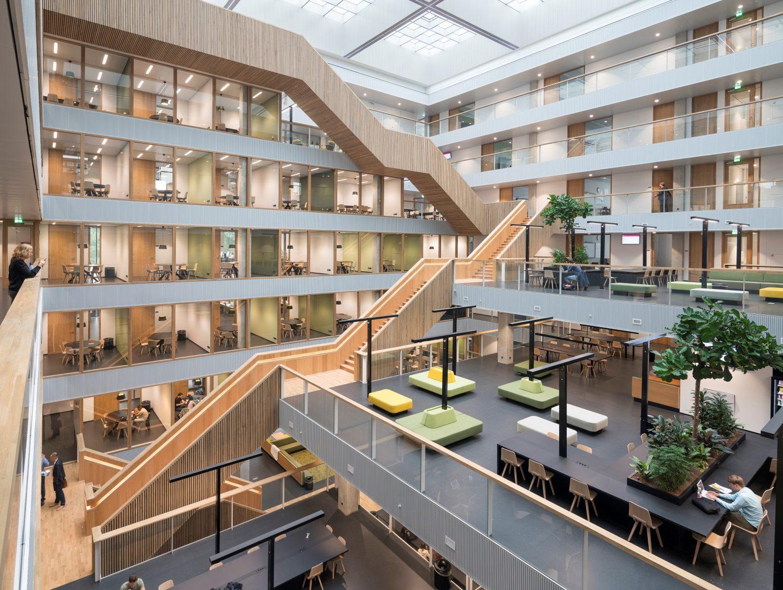Hogeschool Rotterdam, kralingse zoom, monumentale trap