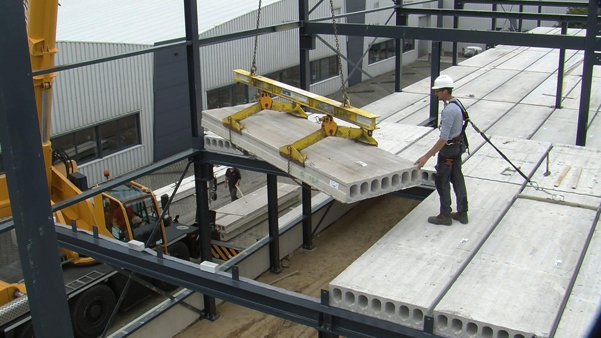 VBI, remontabel bouwen, kanaalplaat, AGRO NRG, staalconstructie