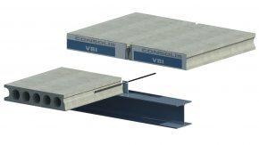 Kanaalplaatvloer remontabel opgelegd op staalconstructie: koppelstaven in kelkvoeg