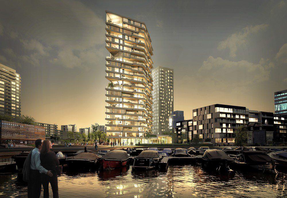Breeam congres in teken van ciculair bouwen Houten-woontoren-HAUT