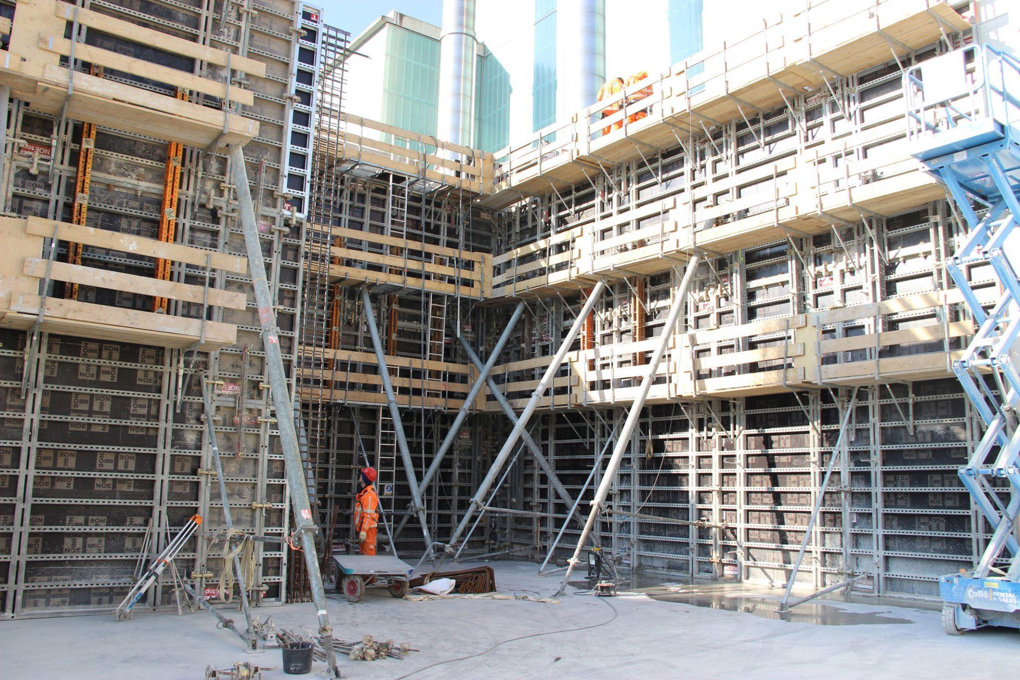 betonwanden, bekisting, biomassa, eneco, noe, lage wijde, biowarmte-installatie