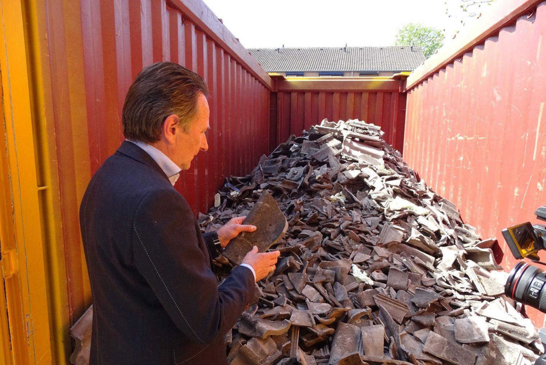 Recycling, betonpannen