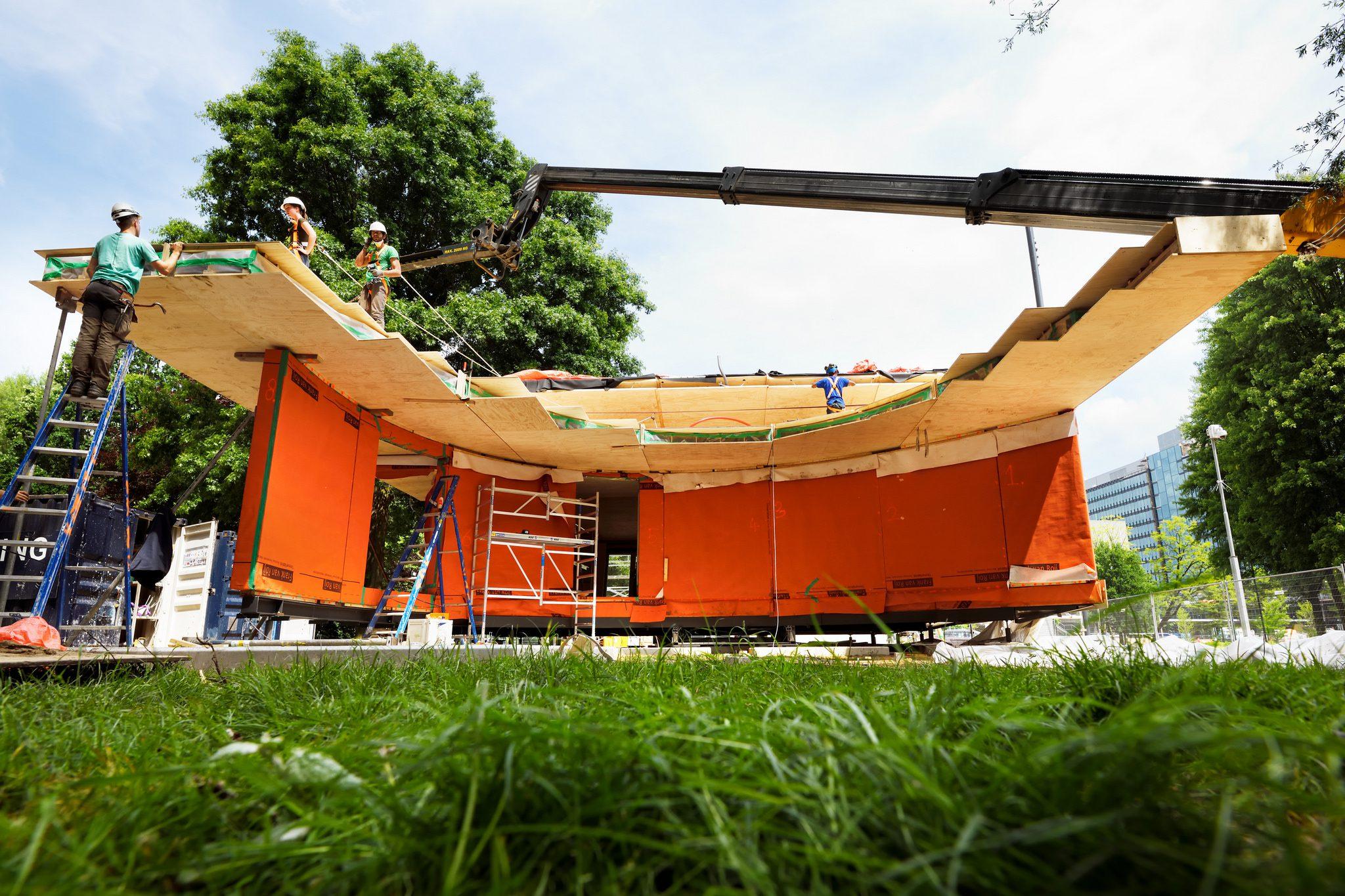 Slim huis gebouwd door studenten TU Eindhoven