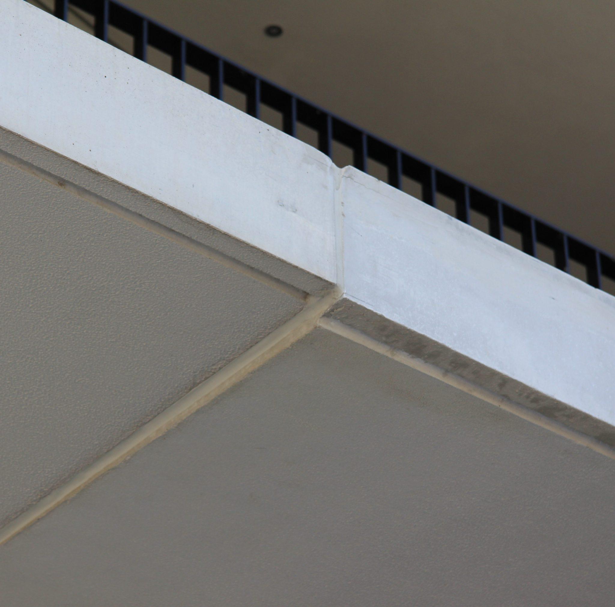 Bouwfout verschil in betonwerk
