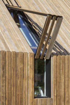 Bezoekerspaviljoen Hof van Duivenvoorde. Foto: 70F architecture