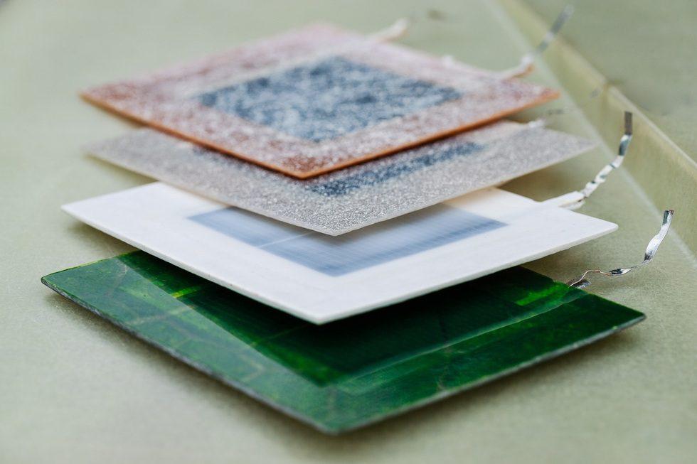 demonstratieopstelling PV op composiet gevelelementen