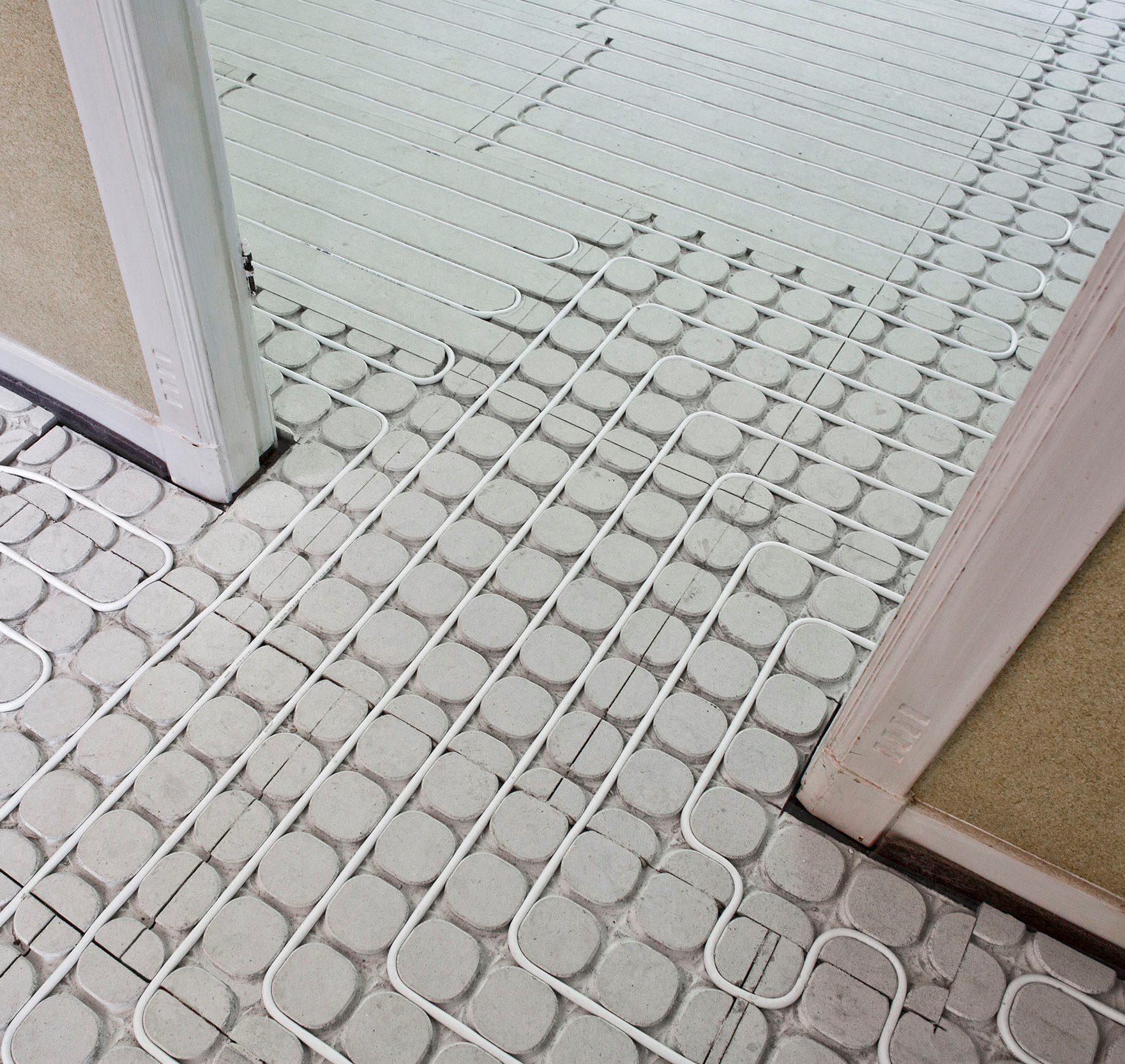 vloerverwarming Vloerverwarmingssyteem op bestaande houten vloeren
