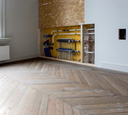 Vloerverwarmingssysteem op bestaande houten vloeren
