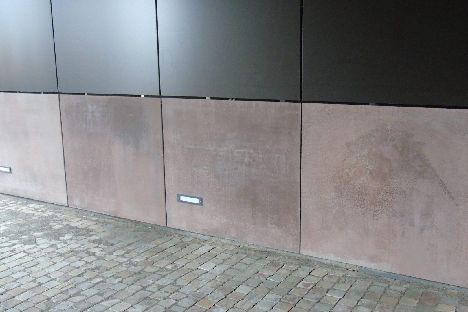gevelafwerking, glasvezelversterkt prefab beton