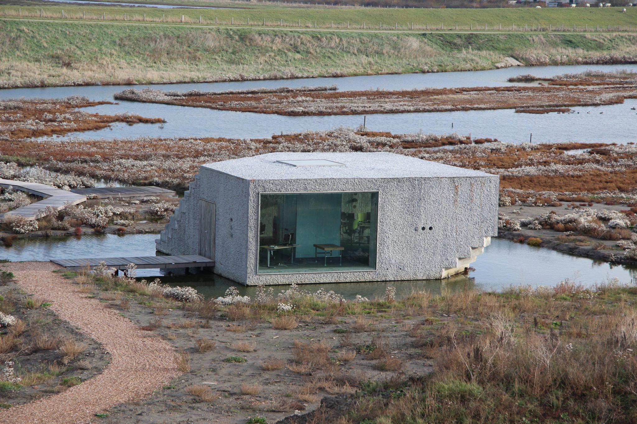 regiokantoor isolerend beton als massieve schil regiokantoor Natuurmonumenten