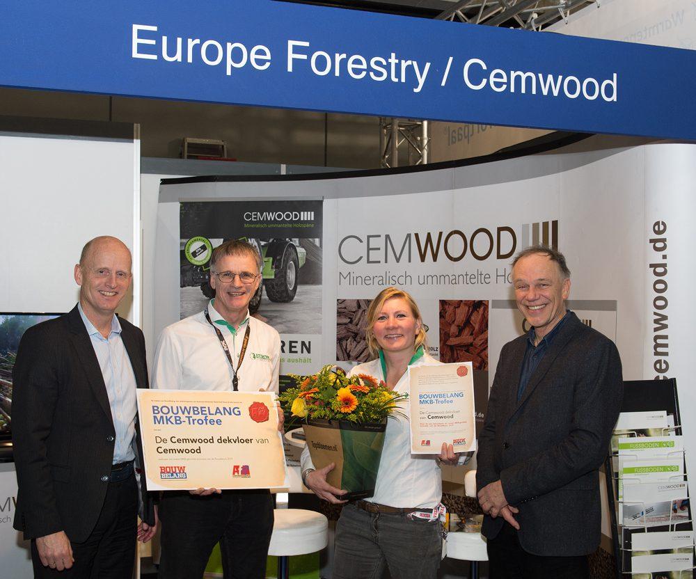 Cemwood, dekvloer, circulair bouwen, bouwbeurs 2019
