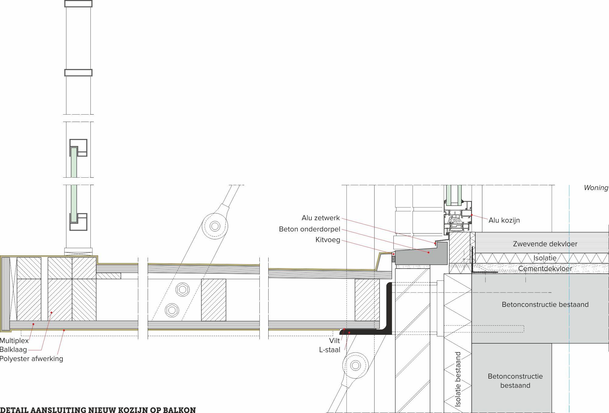 detail van de dag, balkonconstructie